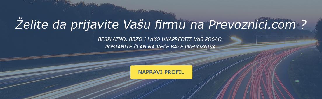 napravi profil prevoznik